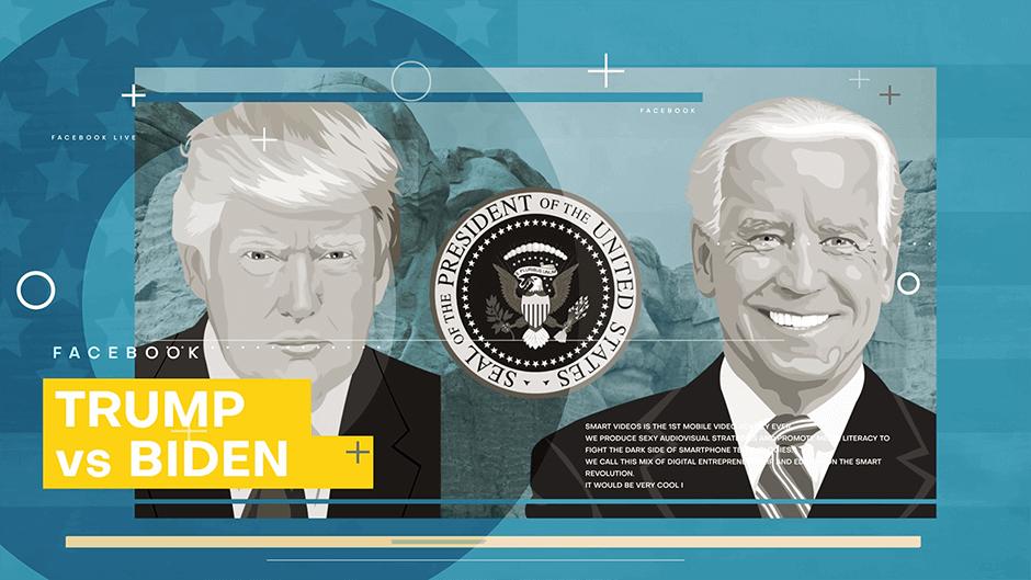 Biden v Trump in the 2020 US elections