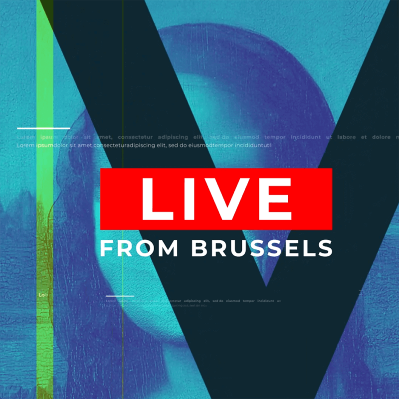 Live from Brussels, artwork from our show