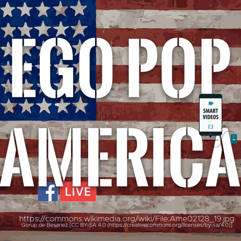 """Cover of the live streaming vlog titled """"Ego Pop America"""""""