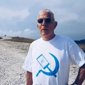 man wearing a cool tshirt